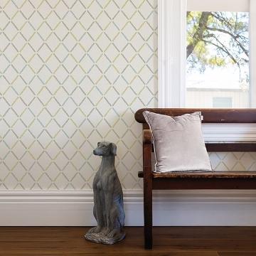 Picture of Allotrope Multicolor Linen Geometric Wallpaper