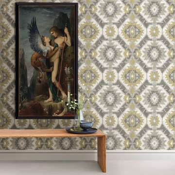 Picture of Kazac Grey Shibori Wallpaper
