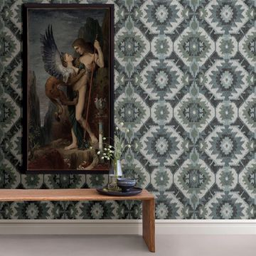 Picture of Kazac Turquoise Shibori Wallpaper