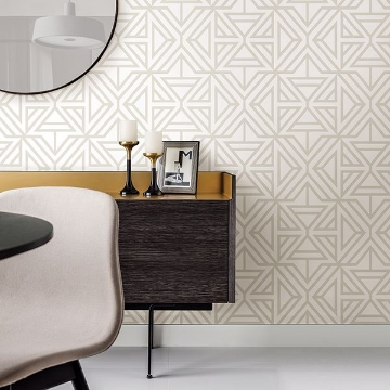 Picture of Helios Bone Geometric Wallpaper