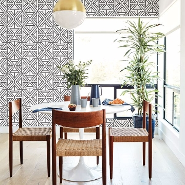 Picture of Helios Taupe Geometric Wallpaper