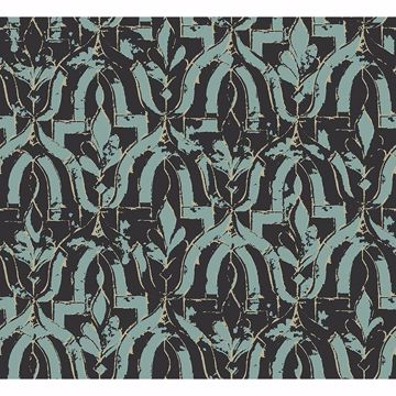 Picture of Belli Turquoise Geometric Wallpaper