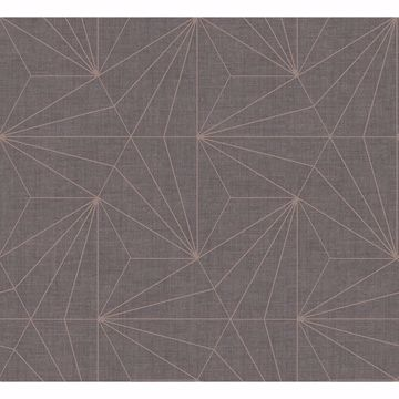 Picture of Luzon Brown Geometric Wallpaper