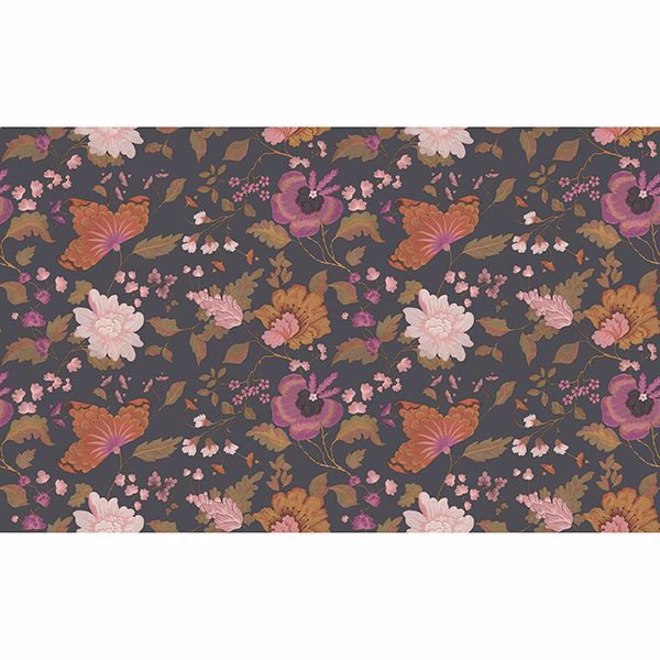 Picture of Latrice Black Floral Wallpaper