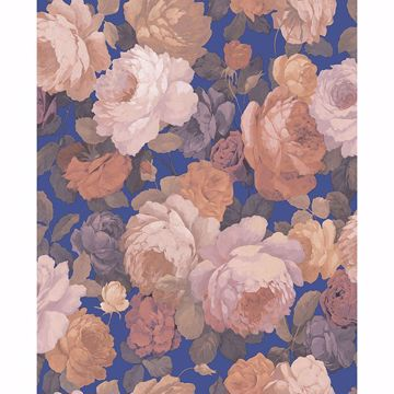 Picture of Lady Pink Floral Wallpaper