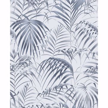 Picture of Raja Blue Palm Wallpaper