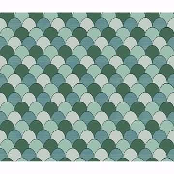 Picture of Edwards Green Geometric Wallpaper