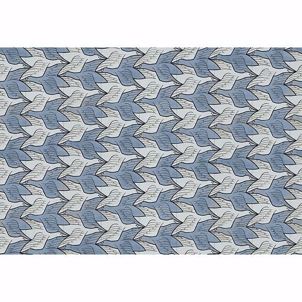 Picture of Alyssa Light Blue Birds Wallpaper