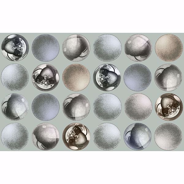 Picture of Mattel Grey Sphere Wallpaper