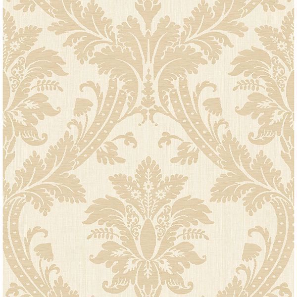 Picture of Clelia Beige Damask Wallpaper