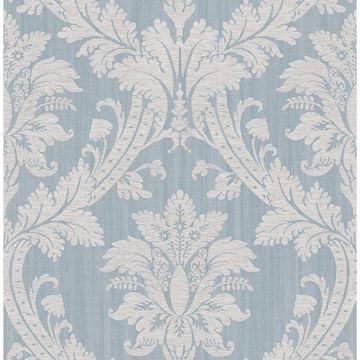 Picture of Clelia Blue Damask Wallpaper