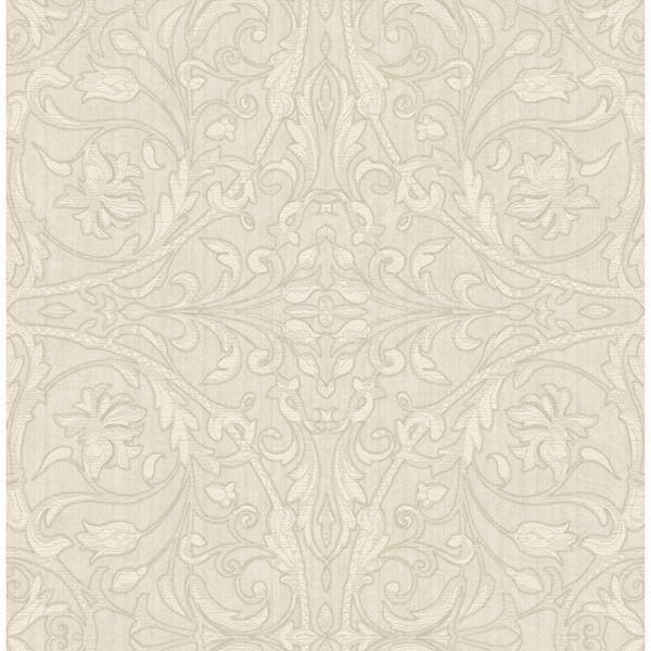 Picture of Fenice Beige Scroll Wallpaper