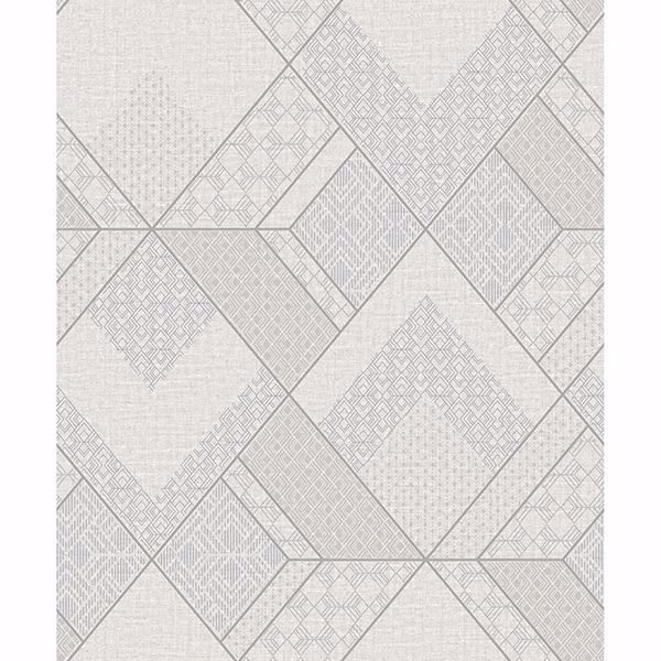 Picture of Castle White Geometric Wallpaper