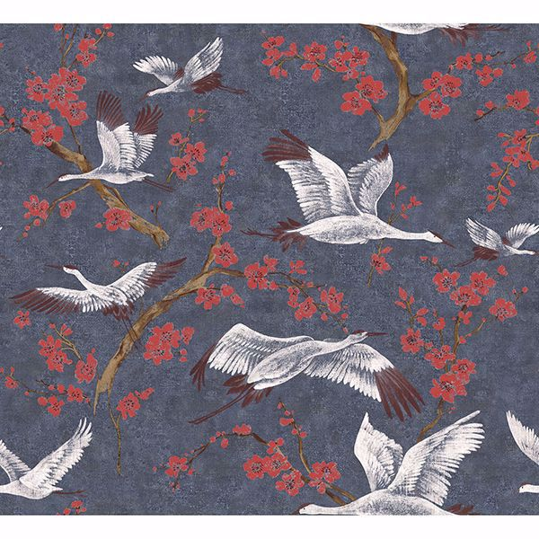 Picture of Airone Multicolor Crane Wallpaper