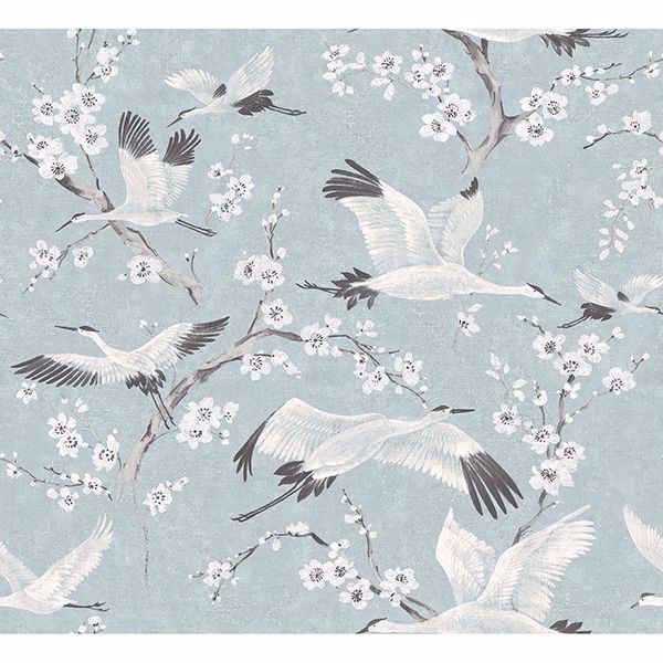 Picture of Airone Blue Crane Wallpaper