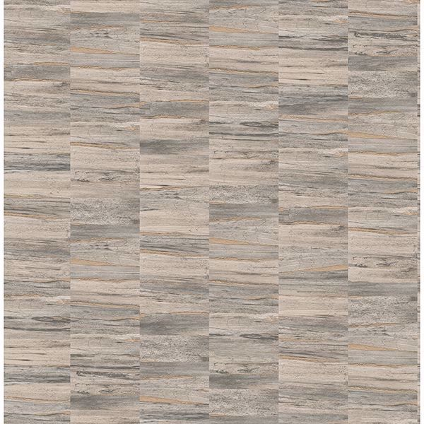 Picture of Hugo Light Brown Faux Wood Wallpaper