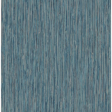 Picture of Kofi Blue Faux Grasscloth Wallpaper