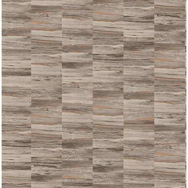 Picture of Hugo Brown Faux Wood Wallpaper