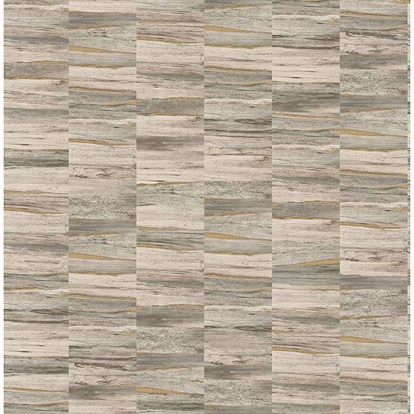 Picture of Hugo Neutral Faux Wood Wallpaper