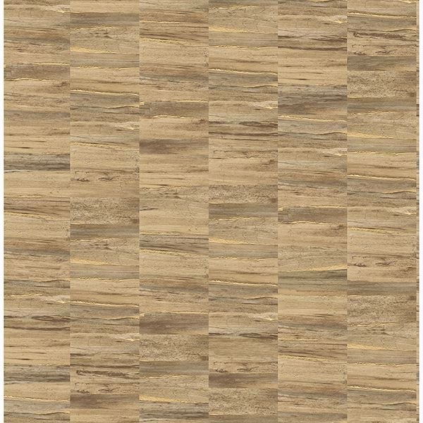 Picture of Hugo Copper Faux Wood Wallpaper