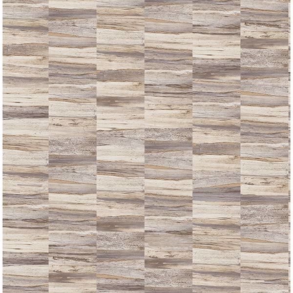 Picture of Hugo Cream Faux Wood Wallpaper