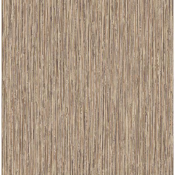 Picture of Kofi Brown Faux Grasscloth Wallpaper