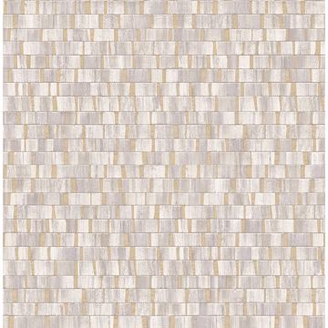 Picture of Constantine Neutral Faux Wood Wallpaper