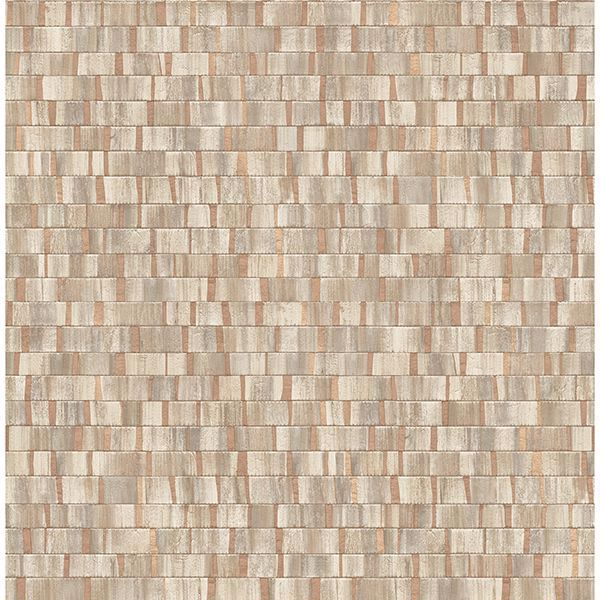 Picture of Constantine Copper Faux Wood Wallpaper
