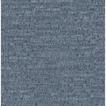 Picture of Henrique Navy Faux Cork Wallpaper
