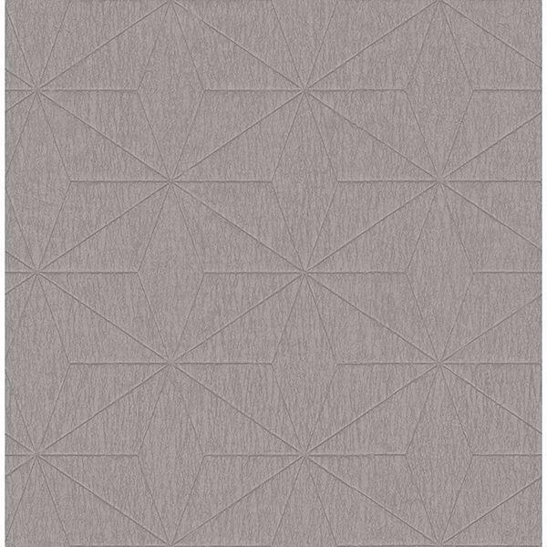 Picture of Bernice Taupe Geometric Wallpaper