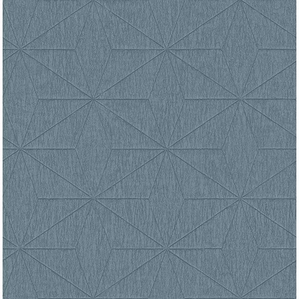 Picture of Bernice Teal Geometric Wallpaper