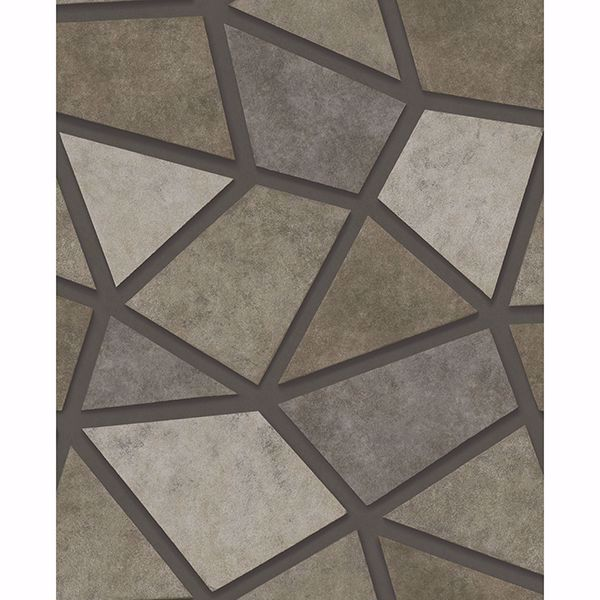 Picture of Coty Brown Mosaic Wallpaper