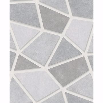 Picture of Coty Silver Mosaic Wallpaper