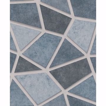 Picture of Coty Blue Mosaic Wallpaper