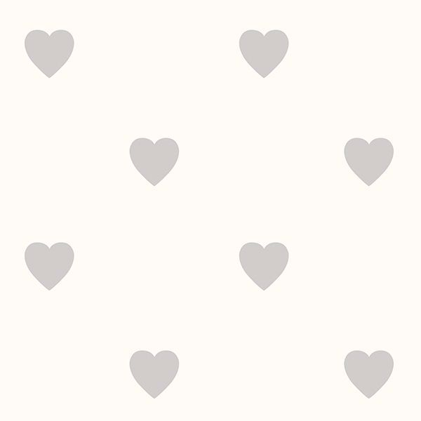 Picture of Adley Off-White Hearts Wallpaper