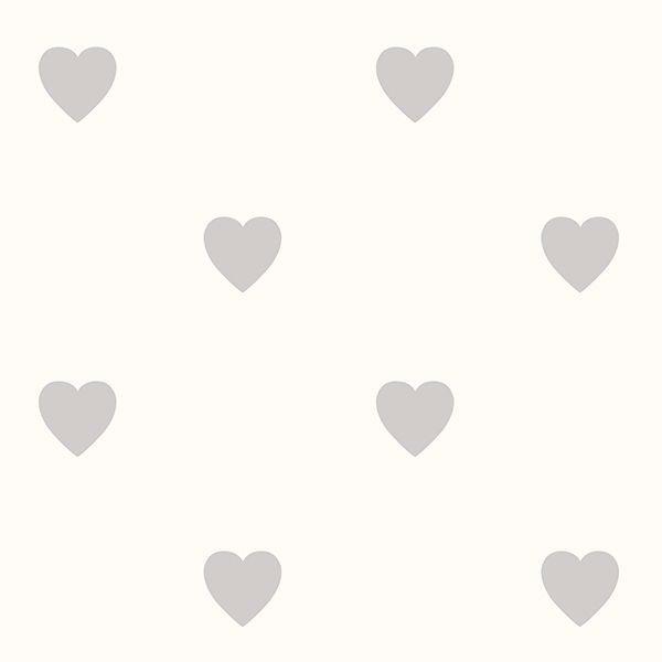 Adley Off White Hearts Wallpaper
