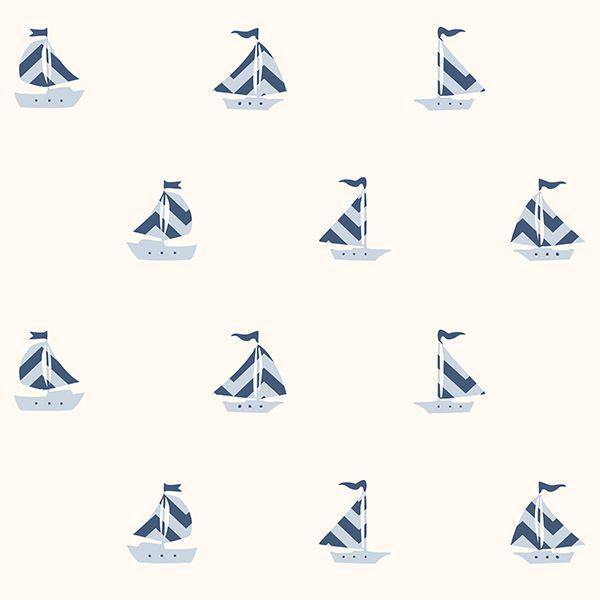 Picture of Pearl Off-White Boat Wallpaper
