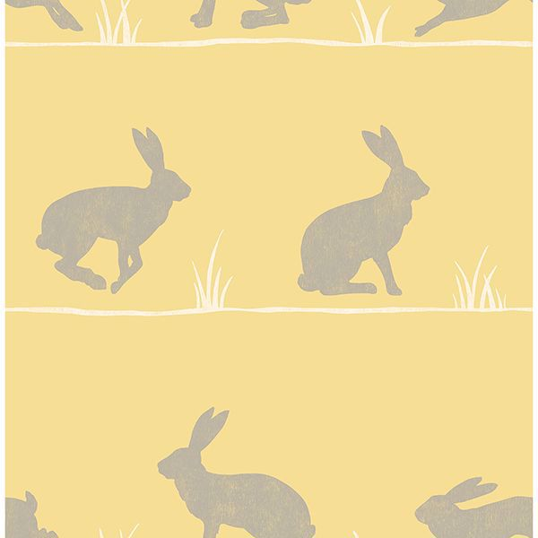 Picture of Nell Mustard Rabbit Wallpaper
