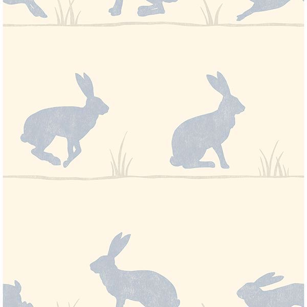 Picture of Nell Beige Rabbit Wallpaper