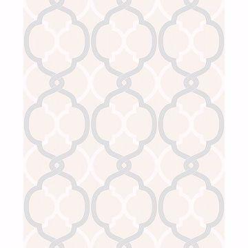 Picture of Mungo Off-White Quatrefoil Wallpaper