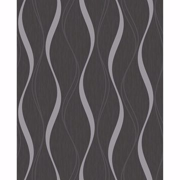 Picture of Brody Charcoal Geometric Wallpaper