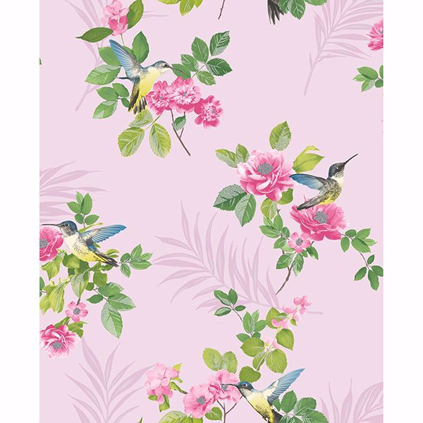 Picture of Juniper Pink Botanical Wallpaper
