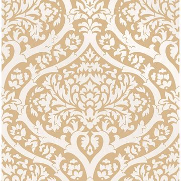 Picture of Sandringham Mustard Damask Wallpaper