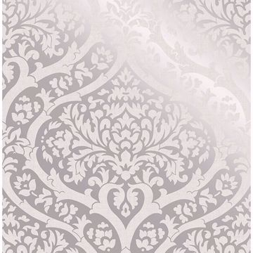 Picture of Sandringham Silver Damask Wallpaper