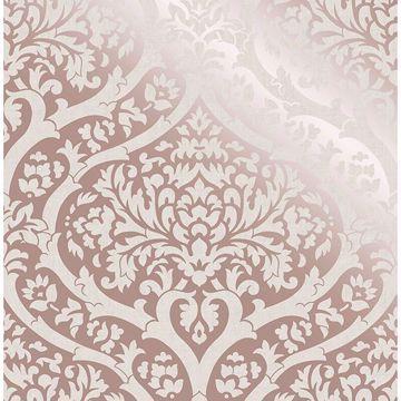 Picture of Sandringham Rose Gold Damask Wallpaper