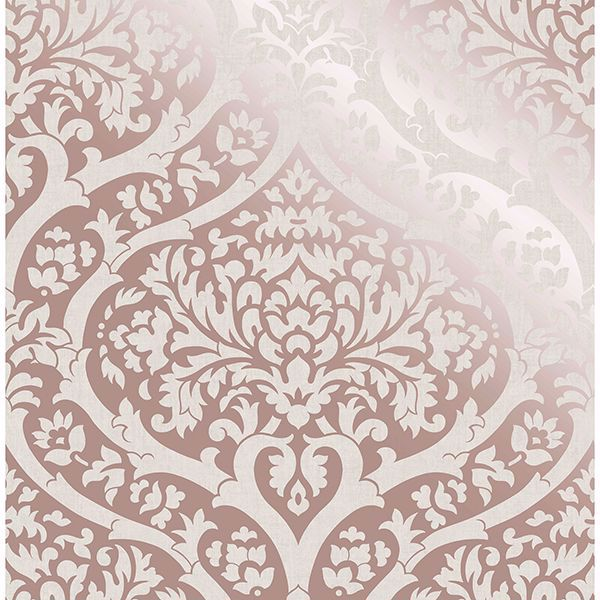 Picture of Sandringham Rose Gold Damask Wallpaper