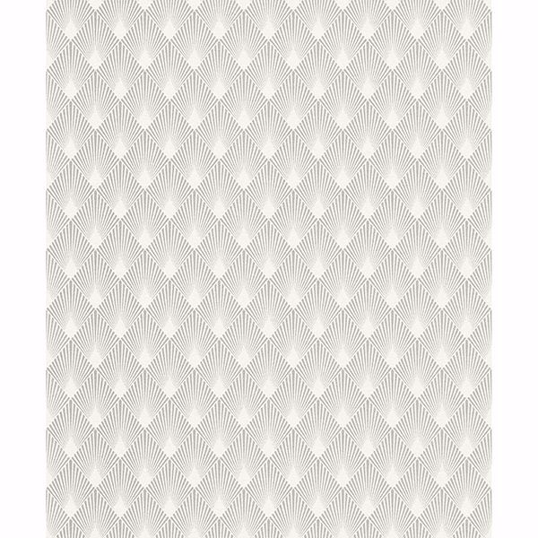 Picture of Ridley Silver Geometric Wallpaper