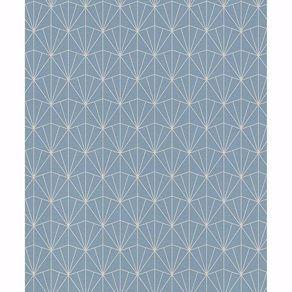 Picture of Frankl Blue Geometric Wallpaper