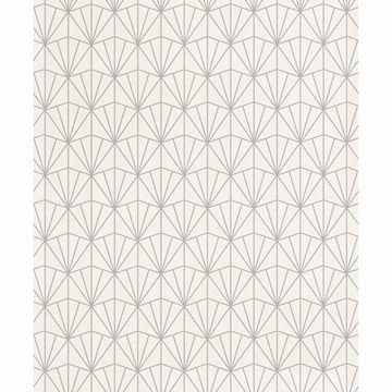 Picture of Frankl Cream Geometric Wallpaper