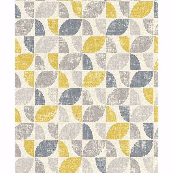 Picture of Dorwin Yellow Geometric Wallpaper